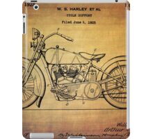 Harley Davidson Patent From 1928 iPad Case/Skin