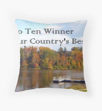Banner Challenge Throw Pillow