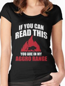 If you can read this you are in my aggro range Women's Fitted Scoop T-Shirt
