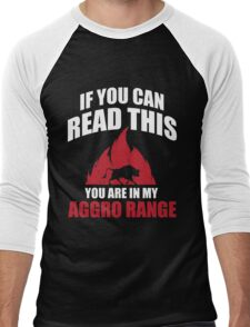 If you can read this you are in my aggro range Men's Baseball ¾ T-Shirt