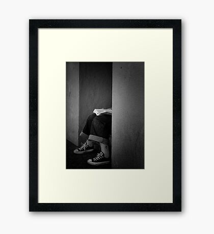 In My Own Little World Framed Print