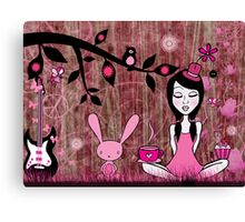 Pinky In Pinky Land Canvas Print
