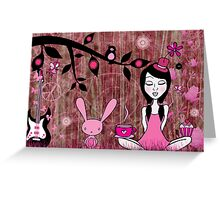 Pinky In Pinky Land Greeting Card