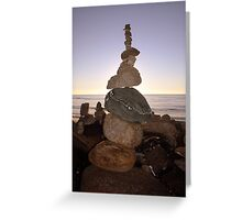 Stone Towers - New Zealand's South Island Greeting Card