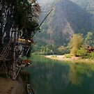 Green River - Vang Vieng, Laos by timstathers