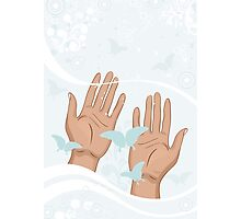 beautiful female hands Photographic Print