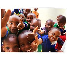 Thumbs Up - Mshiri Pre Primary students, Tanzania Poster