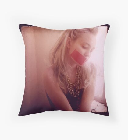 I Promise Not to Tell Throw Pillow