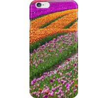 Monet Alive-colorful tulip field waves iPhone Case/Skin