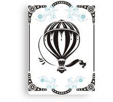 vintage hot air balloon  Canvas Print