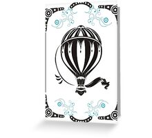 vintage hot air balloon  Greeting Card