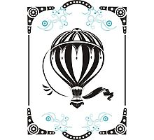 vintage hot air balloon  Photographic Print