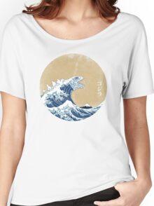 Hokusai Kaiju - Vintage Version Women's Relaxed Fit T-Shirt