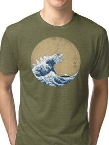 Hokusai Kaiju - Vintage Version Tri-blend T-Shirt