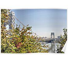 George Washington Bridge from Historic Park Poster