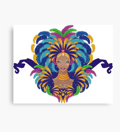 Beautiful carnival girl Canvas Print