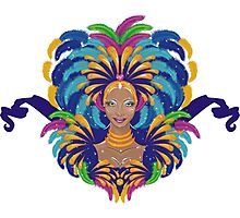 Beautiful carnival girl Photographic Print