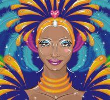 Beautiful carnival girl Sticker