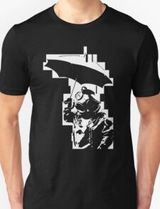 Taucher mit Schirm Unisex T-Shirt