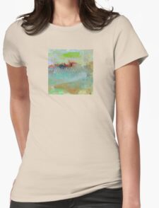 The Village on The Hill, Impressionism Art Womens Fitted T-Shirt