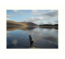 Looking for Lochness Monster Art Print