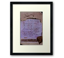 Lord's Prayer Collage Framed Print