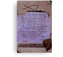 Lord's Prayer Collage Canvas Print