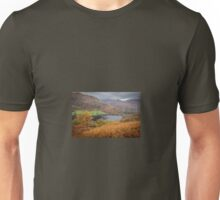 Hilltop views over Rydal Water, Lake District. Unisex T-Shirt