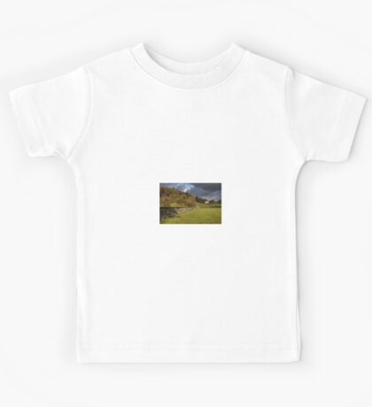 Dry Stone Wall and Barn Landscape Kids Tee