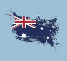 Australia Flag Brush Splatter Baby Tee