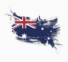 Australia Flag Brush Splatter Kids Clothes