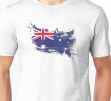 Australia Flag Brush Splatter Unisex T-Shirt
