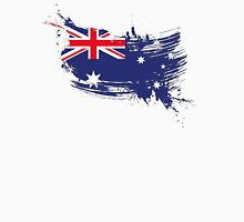 Australia Flag Brush Splatter Unisex T-Shirt