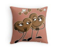Chocolate - Saturday is sweet encounter day Throw Pillow