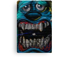 James P. Sullivan from Monsters Inc - Hosier Lane, Melbourne Canvas Print