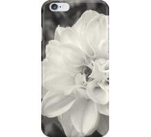 Greyscale flower iPhone Case/Skin