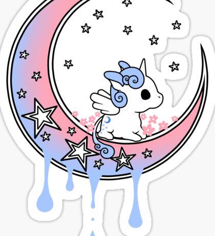 Dreamy Unicorn - Starbright Dripping Moon Sticker