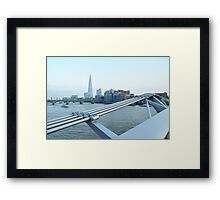 The Shard - view from the Millenium Bridge Framed Print