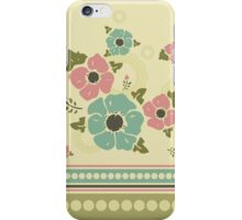 """Vintage pattern with a border """"Nostalgic Flowers"""" iPhone Case/Skin"""