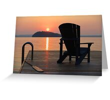 Armchair on the Dock Greeting Card