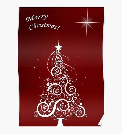 Merry christmas (red) Poster