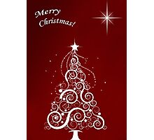 Merry christmas (red) Photographic Print