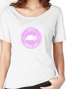 Crazy Tortoise Lady (Pink) Women's Relaxed Fit T-Shirt