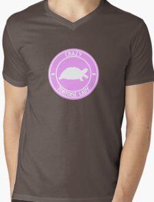 Crazy Tortoise Lady (Pink) Mens V-Neck T-Shirt