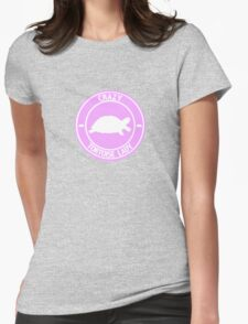 Crazy Tortoise Lady (Pink) Womens Fitted T-Shirt