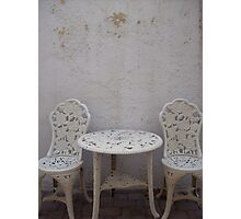 White on White Photographic Print
