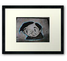 Paper Graffiti Man - Hosier Lane, Melbourne Framed Print