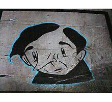 Paper Graffiti Man - Hosier Lane, Melbourne Photographic Print
