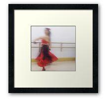 Dancer In Motion Framed Print