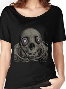 SKULL/ MESSAGE IN EYES Women's Relaxed Fit T-Shirt